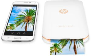 HP SPROCKET PLUS - PORTABLE PHOTO PRINTER, WHITE