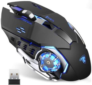 TENMOS T85 WIRELESS GAMING MOUSE, 2.4G USB LED RECHARGEABLE OPTICAL SILENT WIRELESS MOUSE