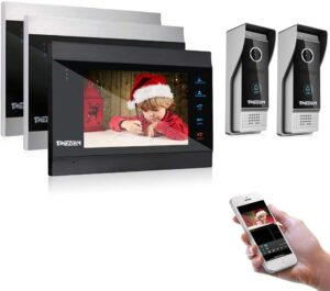 TMEZON INTERCOM SYSTEM WITH DOORBELL FOR VIDEO INTERCOM